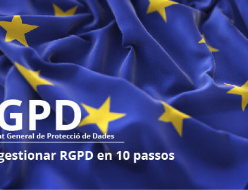 Cóm gestionar RGPD en 10 passos